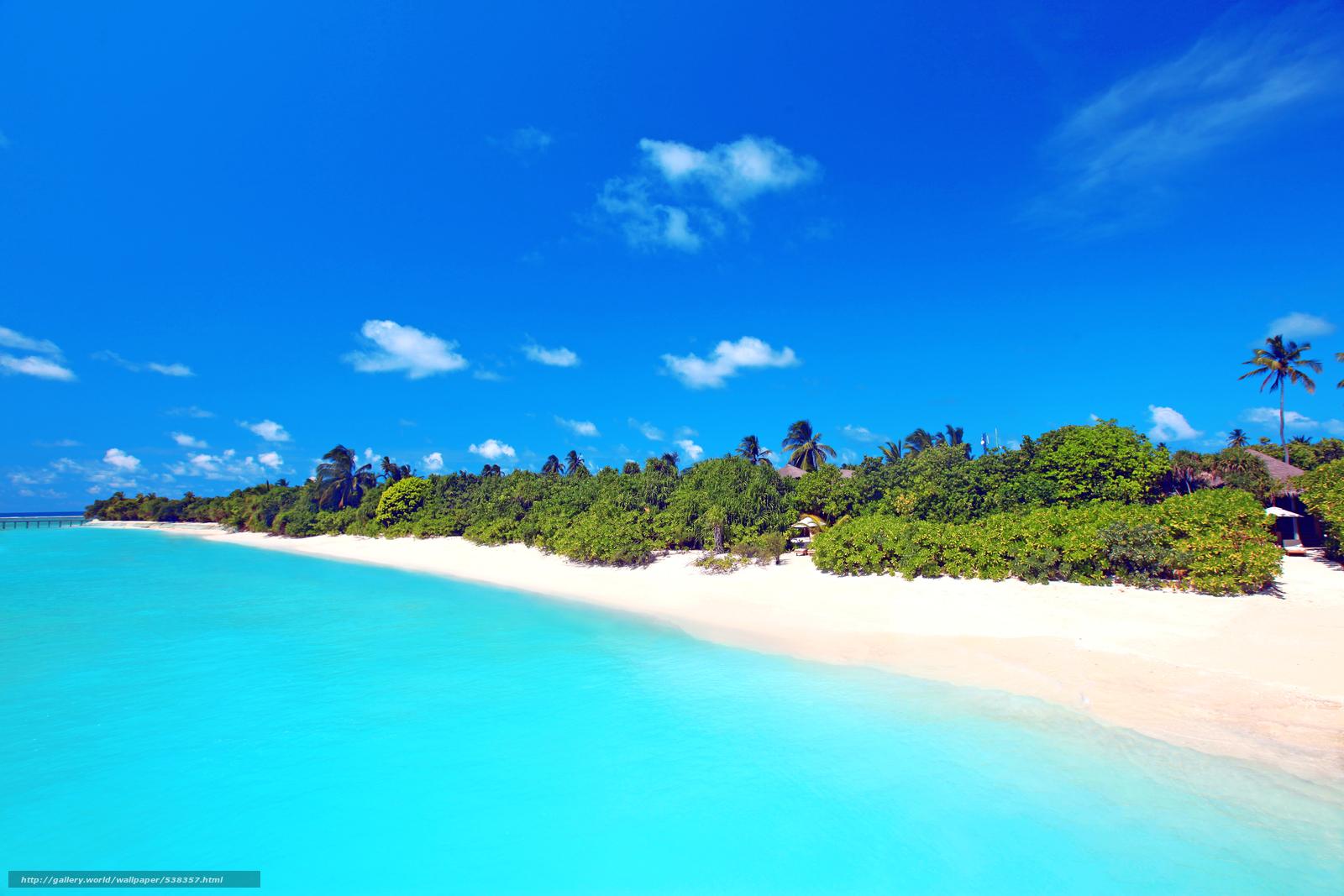 Scaricare gli sfondi tropici mare spiaggia sfondi gratis for Desktop gratis mare