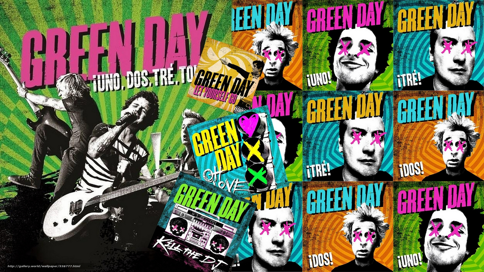 Download Wallpaper Green Day Punk Rock Group Free Desktop