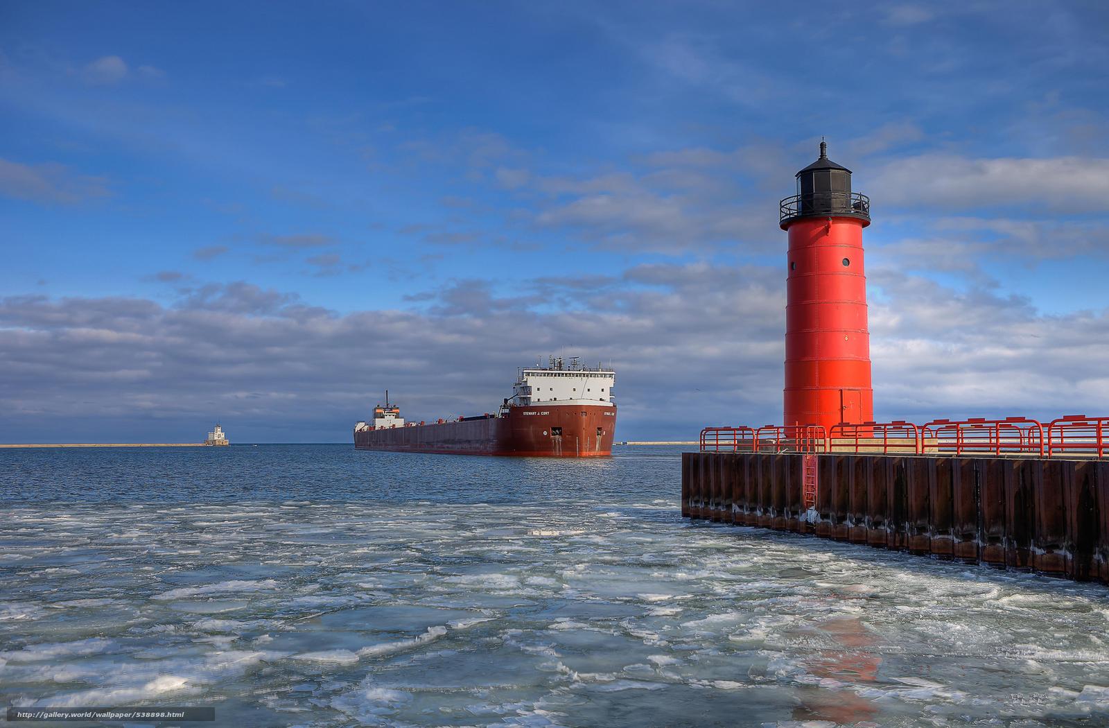 Скачать обои Stewart J.Cort,  Ship,  Milwaukee,  Pierhead бесплатно для рабочего стола в разрешении 2048x1344 — картинка №538898