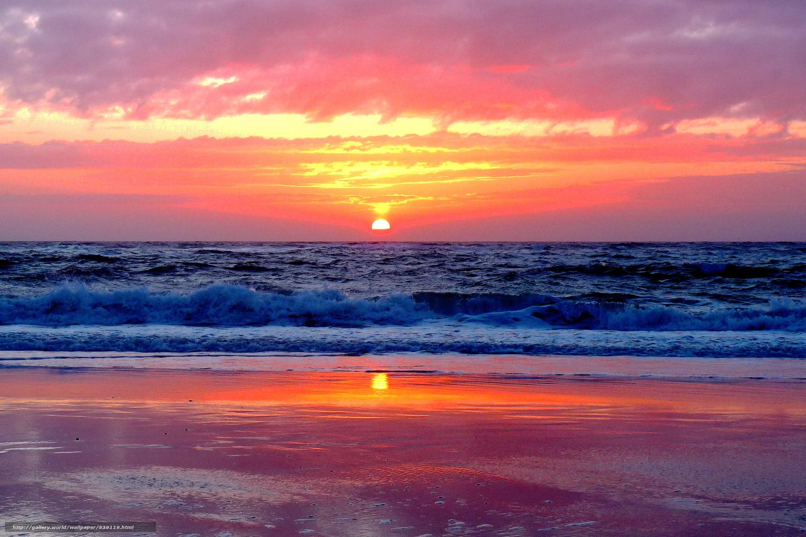 Tlcharger fond d 39 ecran mer du nord allemagne coucher du - Fond ecran coucher de soleil sur la mer ...