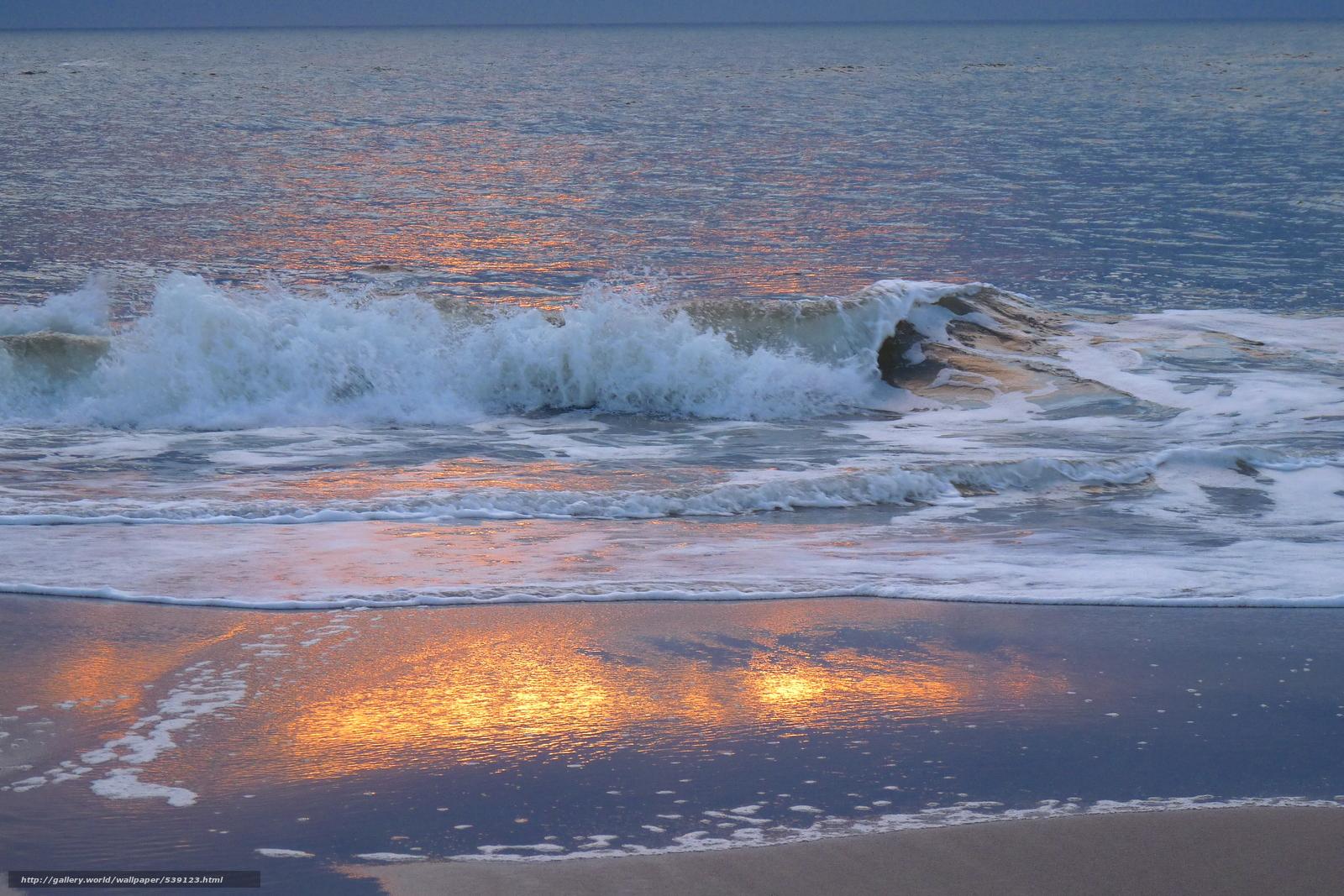 壁紙をダウンロード ズィルト島のビーチで静かな夜,  ドイツ,  海,  波浪 デスクトップの解像度のための無料壁紙 3648x2432 — 絵 №539123
