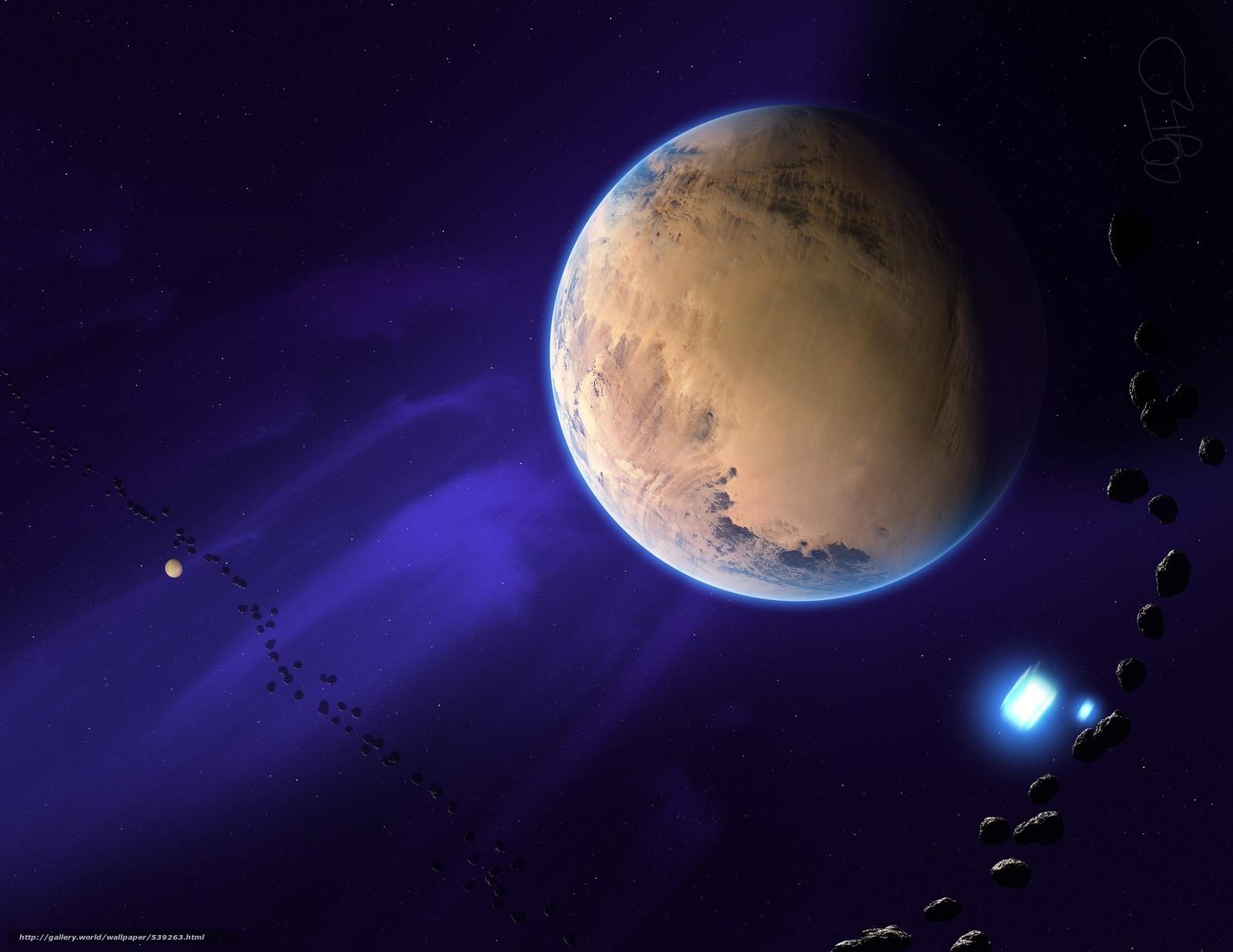 Скачать обои космос,  3d,  art бесплатно для рабочего стола в разрешении 3300x2550 — картинка №539263