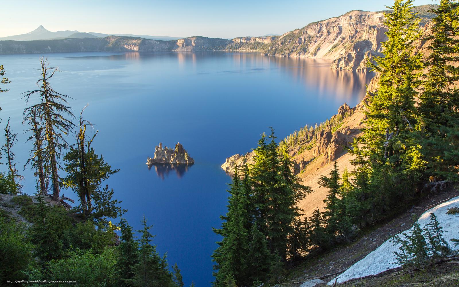 Скачать обои Кратер Лейк,  штат Орегон,  США,  озеро бесплатно для рабочего стола в разрешении 3840x2400 — картинка №539375