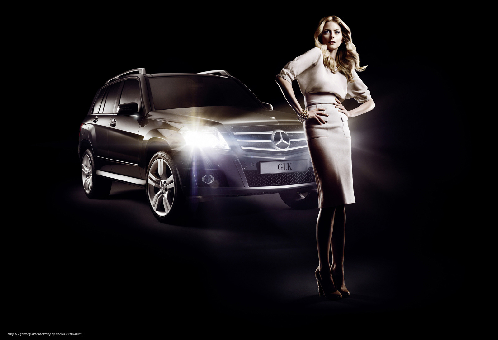 Descargar gratis Eva Padberg,  Mercedes-Benz,  GLK,  moda Fondos de escritorio en la resolucin 3000x2046 — imagen №539385