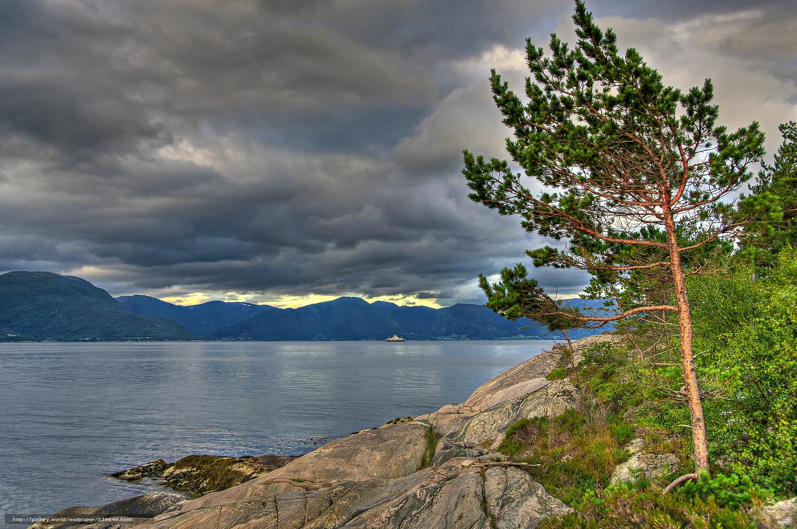 Скачать обои Sognefjord,  Norway,  Согне-фьорд,  Норвегия бесплатно для рабочего стола в разрешении 2048x1359 — картинка №539649