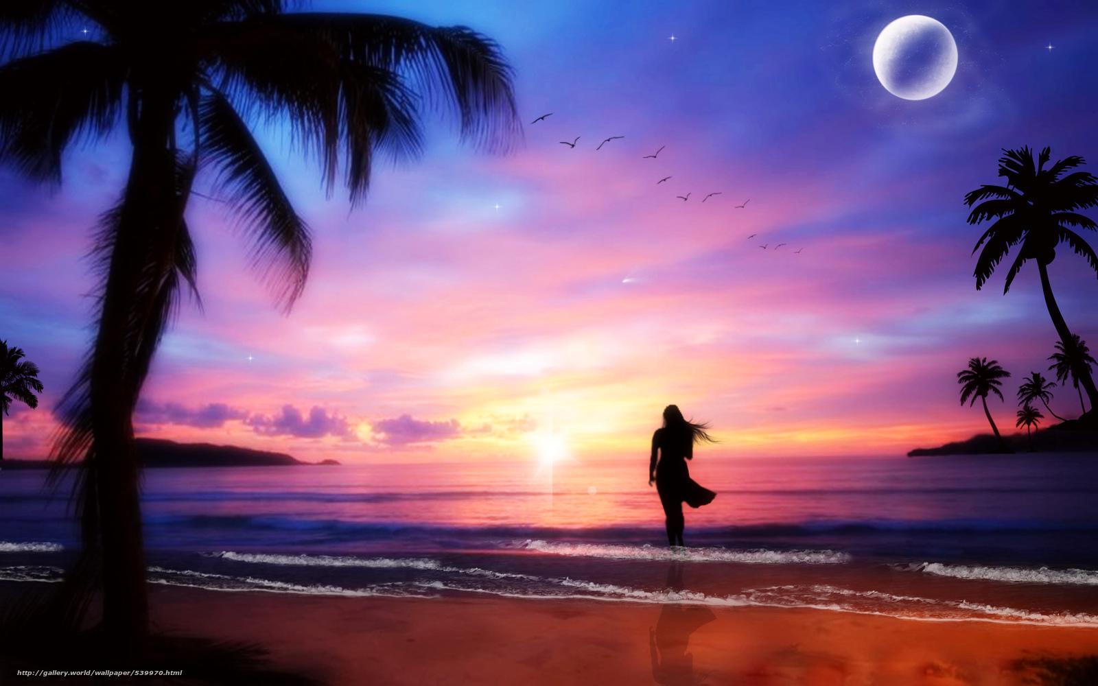Море и пальма