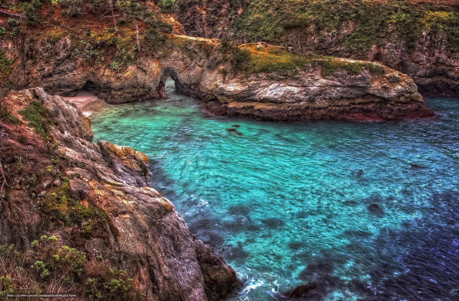 Скачать обои China Cove,  Point Lobos,  Carmel-by-the-Sea,  California бесплатно для рабочего стола в разрешении 2048x1344 — картинка №540252