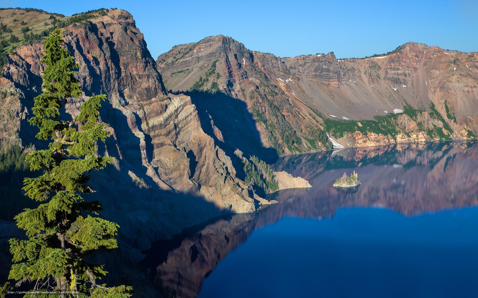 Скачать обои Кратер,  Озера-Национальный парк в штате Орегон,  США бесплатно для рабочего стола в разрешении 3840x2400 — картинка №540704