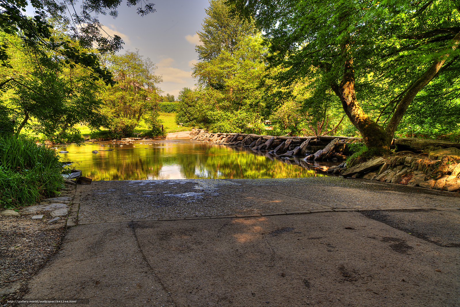 Скачать обои Тарр Шаги,  Эксмур,  Великобритания,  река бесплатно для рабочего стола в разрешении 6048x4032 — картинка №541248
