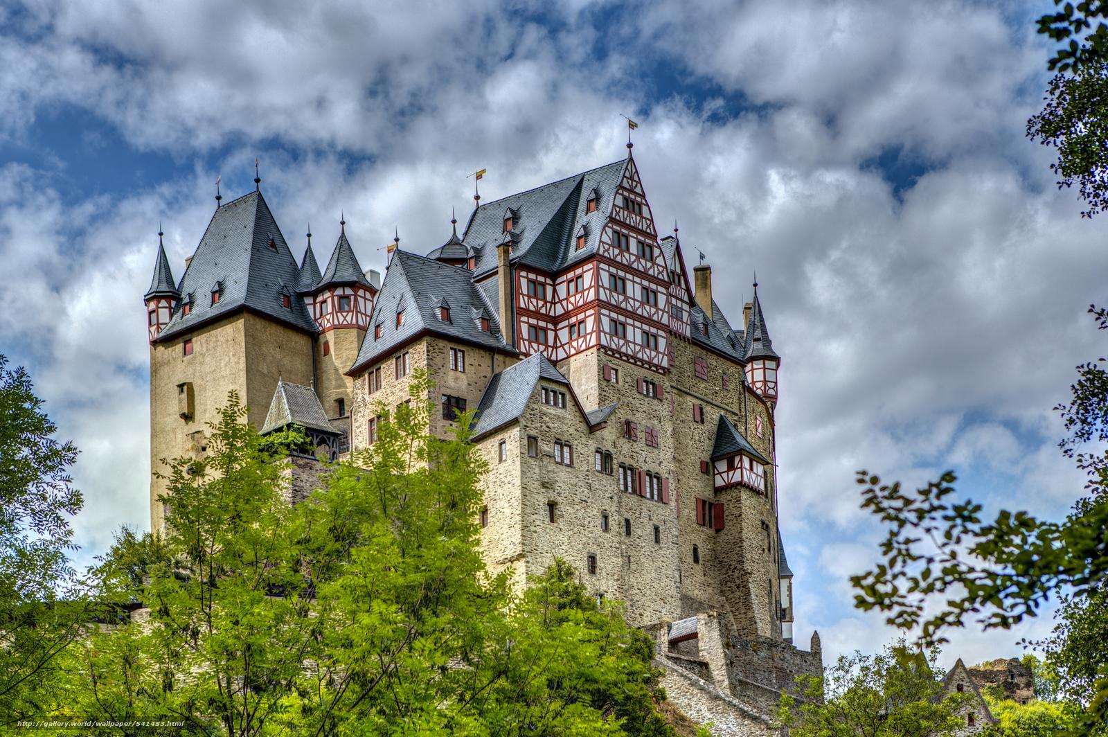 Download wallpaper Burg,  Eltz,  Castle,  Wierschem free desktop wallpaper in the resolution 5736x3816 — picture №541453