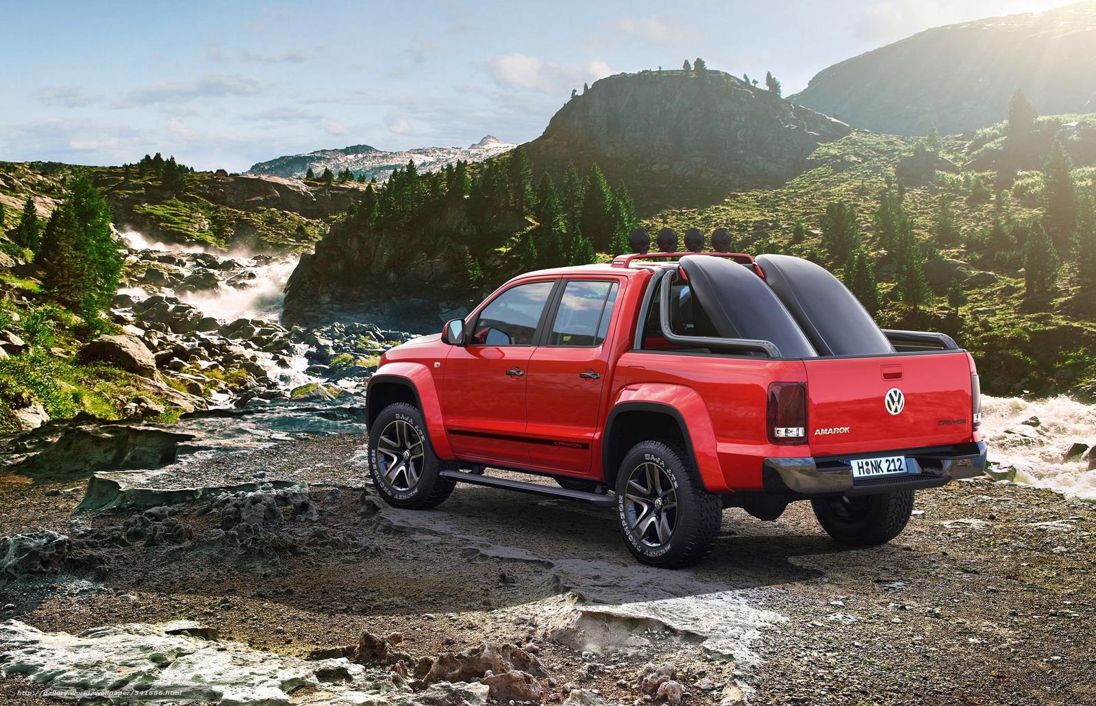 scaricare gli sfondi Volkswagen,  Amarok,  Canyon,  concetto Sfondi gratis per la risoluzione del desktop 3600x2320 — immagine №541686