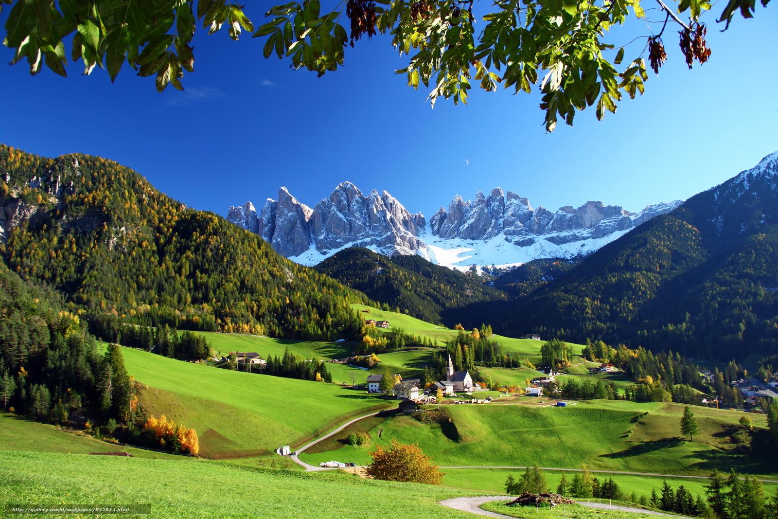 Pobra Tapety Krajobraz, Włochy, Góry, łąki Darmowe Tapety