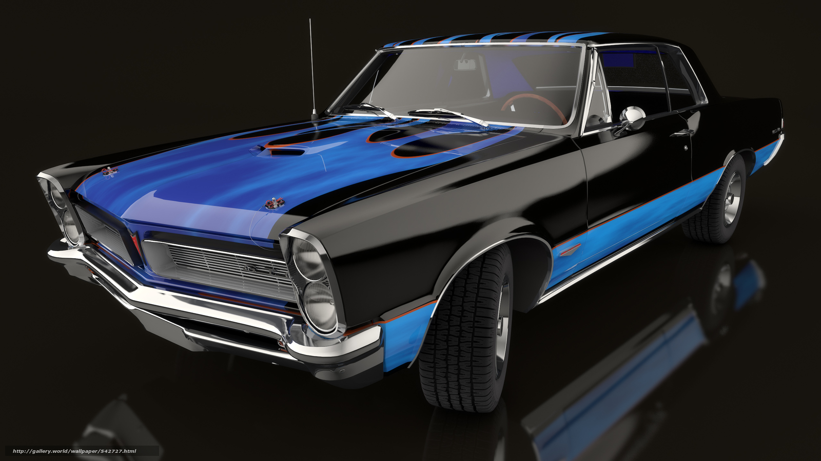 Download wallpaper 1965 pontiac gto machine car free desktop wallpaper in the resolution 2560x1440 picture 542727