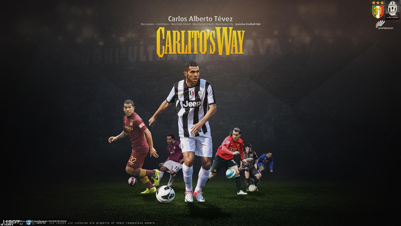 Download Wallpaper Carlitos Tevez Juventus X Free