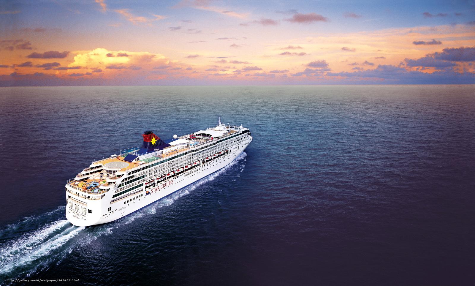 Download wallpaper Star Cruises,  SuperStar Virgo,  Ship free desktop wallpaper in the resolution 3543x2133 — picture №543438