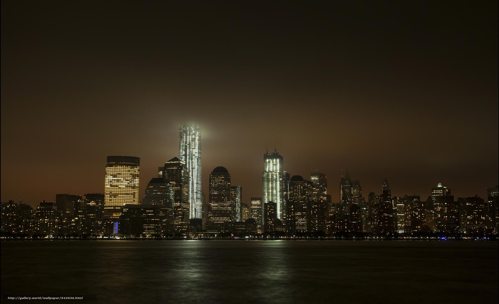 下载壁纸 纽约,  城市,  夜 免费为您的桌面分辨率的壁纸 5521x3370 — 图片 №543936