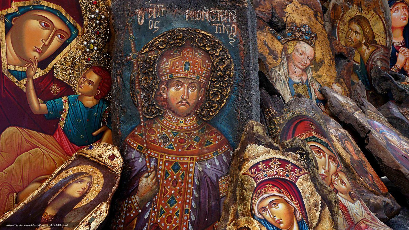 Скачать обои православные иконы,  святые,  лики бесплатно для рабочего стола в разрешении 4912x2760 — картинка №544055