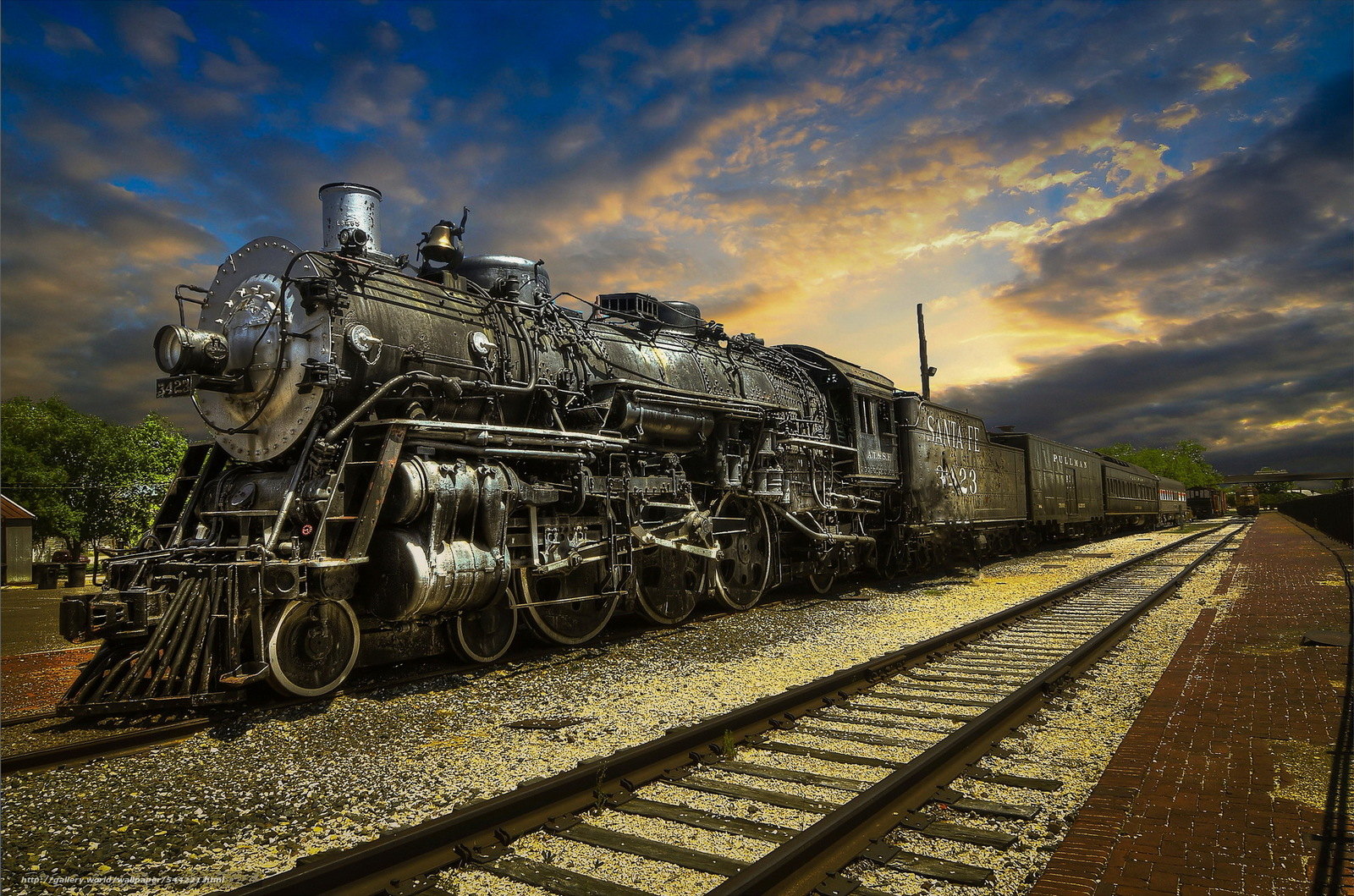 Download wallpaper steam train railway station free desktop wallpaper in the resolution - Walpepar photos ...