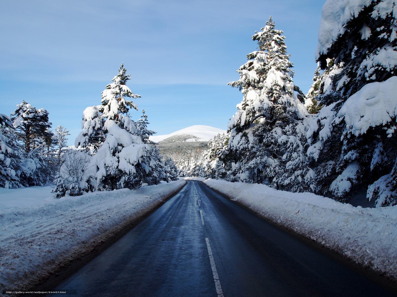 pobra tapety zima,  droga,  drzew,  krajobraz Darmowe tapety na pulpit rozdzielczoci 2560x1920 — zdjcie №544457