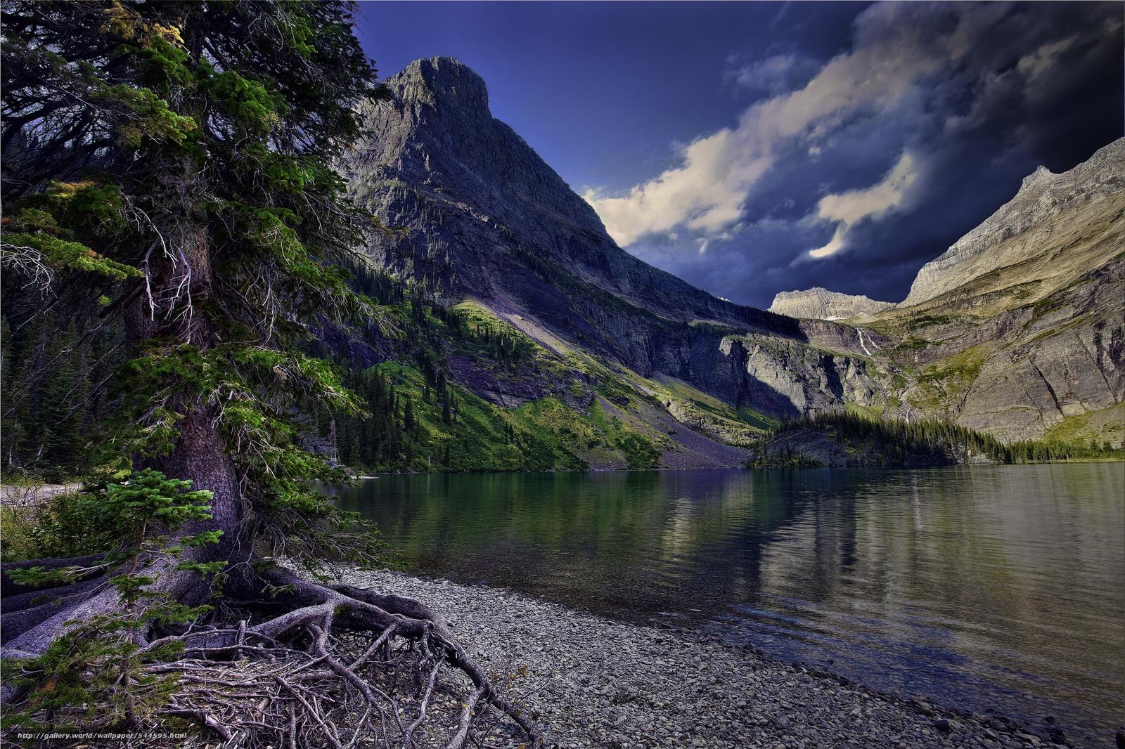 download wallpaper glacier national park lake mountains