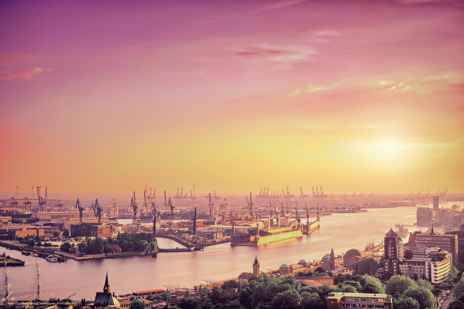 Tapete Hamburg hintergrund harbor hamburg deutschland freie desktop