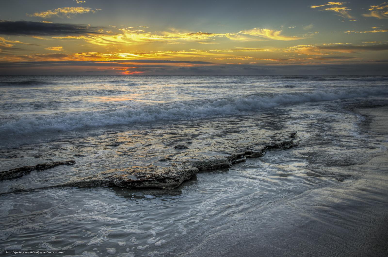 scaricare gli sfondi tramonto,  oceano,  puntellare,  paesaggio Sfondi gratis per la risoluzione del desktop 2400x1590 — immagine №545211