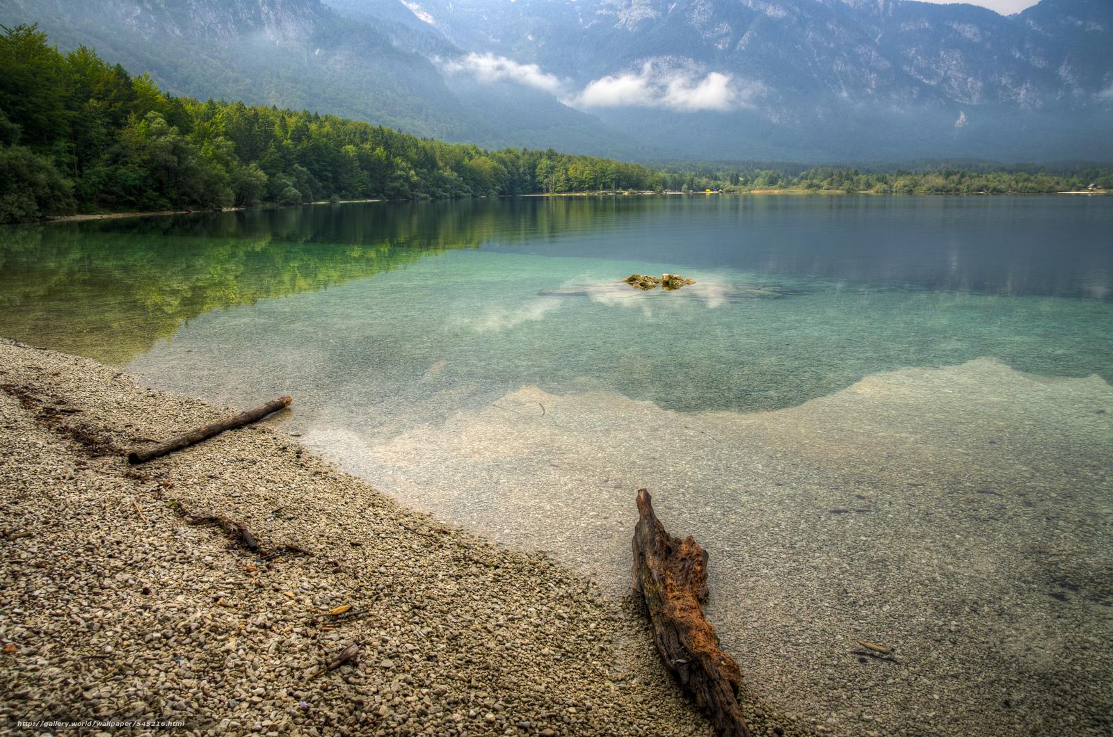 scaricare gli sfondi Lago di Bohinj,  Northern Slovenia,  paesaggio Sfondi gratis per la risoluzione del desktop 2400x1590 — immagine №545216