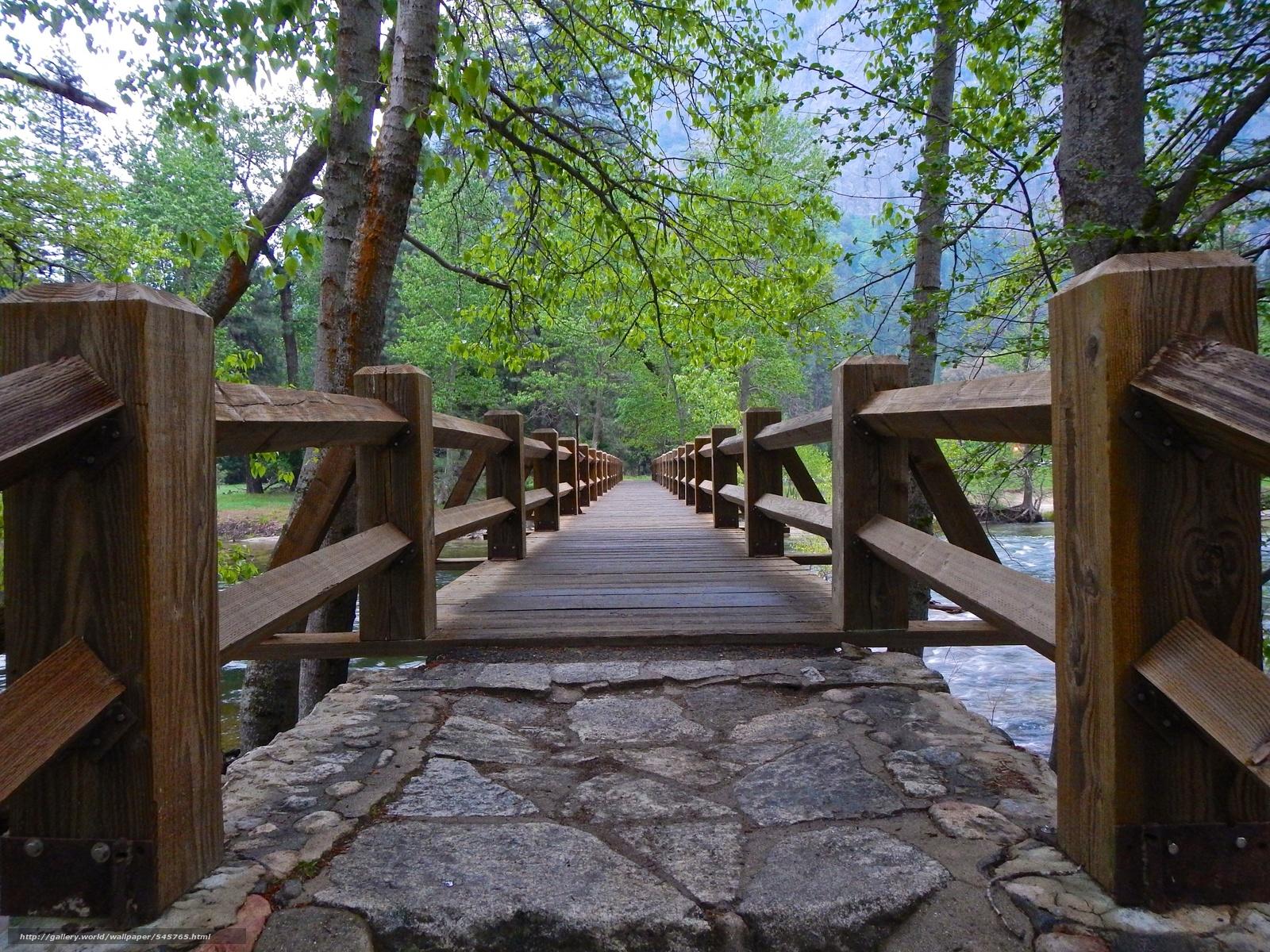 Tlcharger Fond d'ecran Parc national de Yosemite,  rivière,  pont,  arbres Fonds d'ecran gratuits pour votre rsolution du bureau 2304x1728 — image №545765