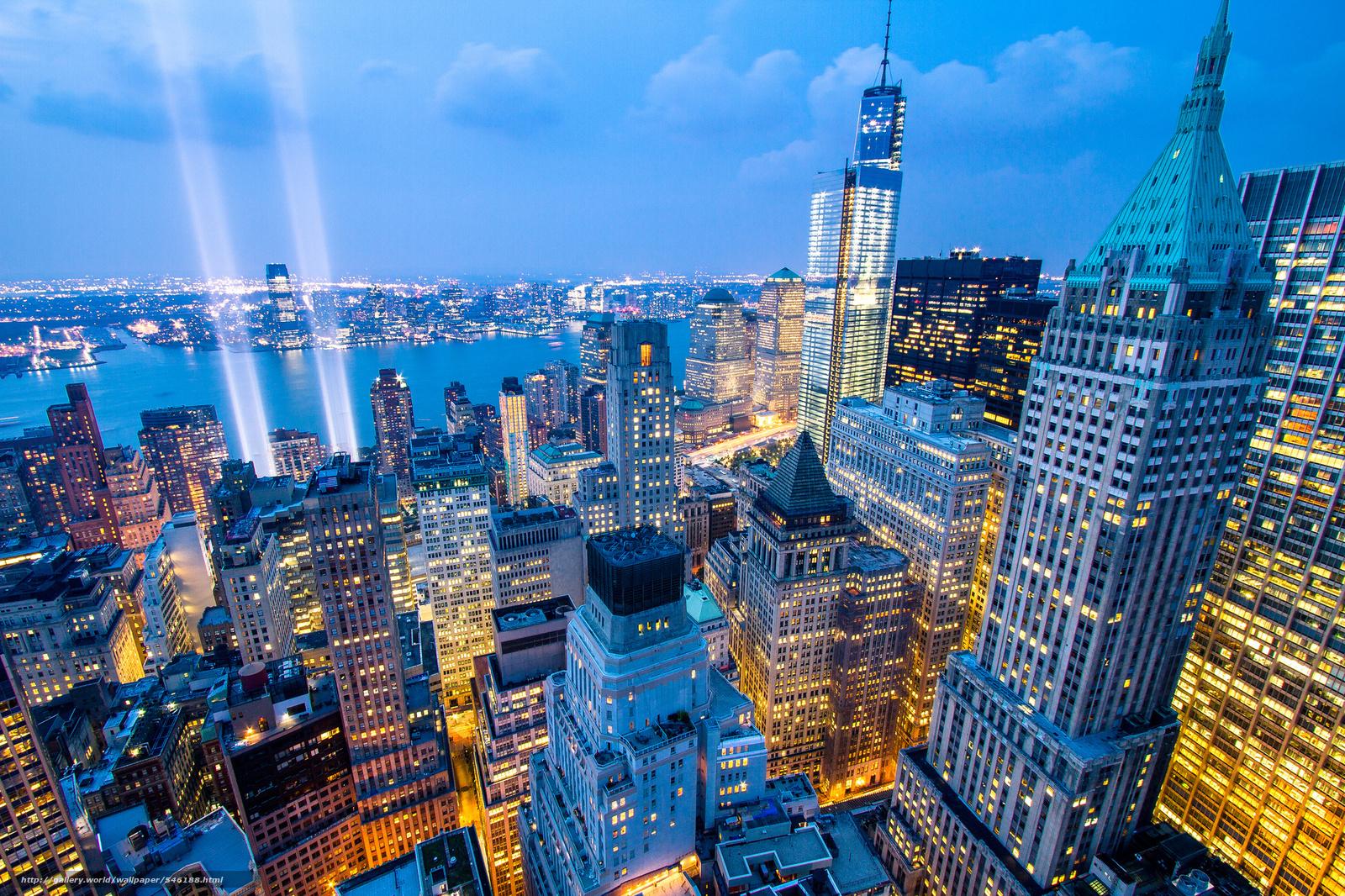 Descargar gratis Ciudad de Nueva York,  Nueva York,  la vida nocturna de la ciudad,  panorama Fondos de escritorio en la resolucin 2048x1365 — imagen №546188