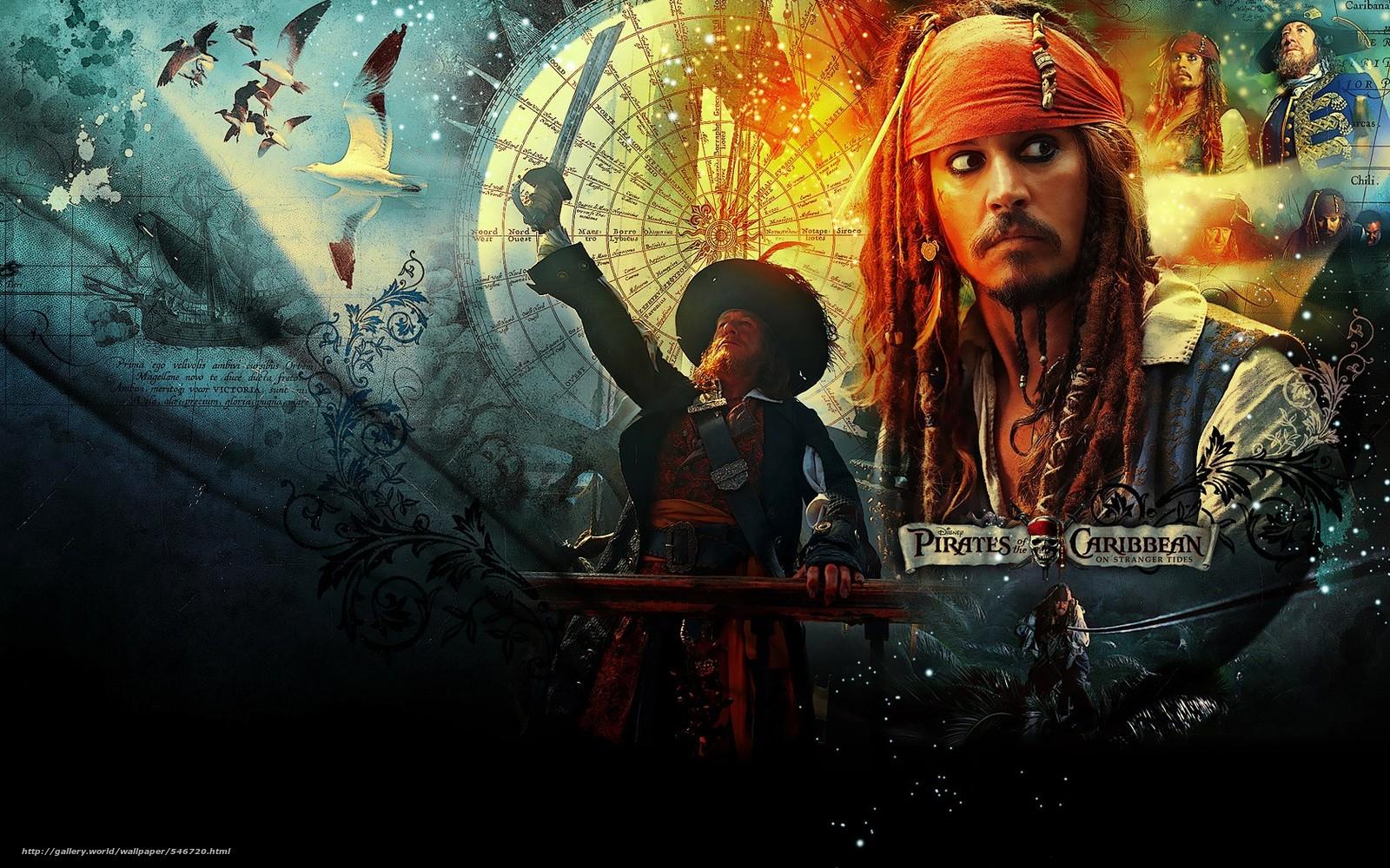 scaricare gli sfondi Johnny Depp,  Pirati dei Caraibi,  Johnny Depp,  Pirati dei Caraibi Sfondi gratis per la risoluzione del desktop 1680x1050 — immagine №546720