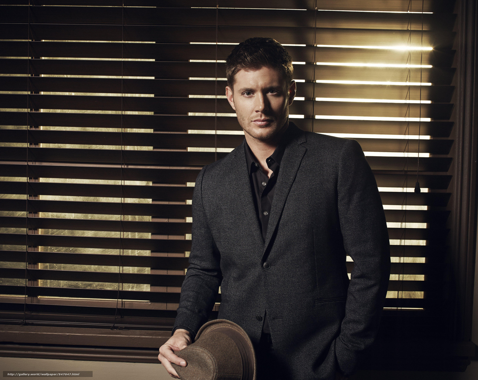 Download wallpaper Jensen Ackles,  Venetian blinds,  man,  suit free desktop wallpaper in the resolution 6128x4872 — picture №547047