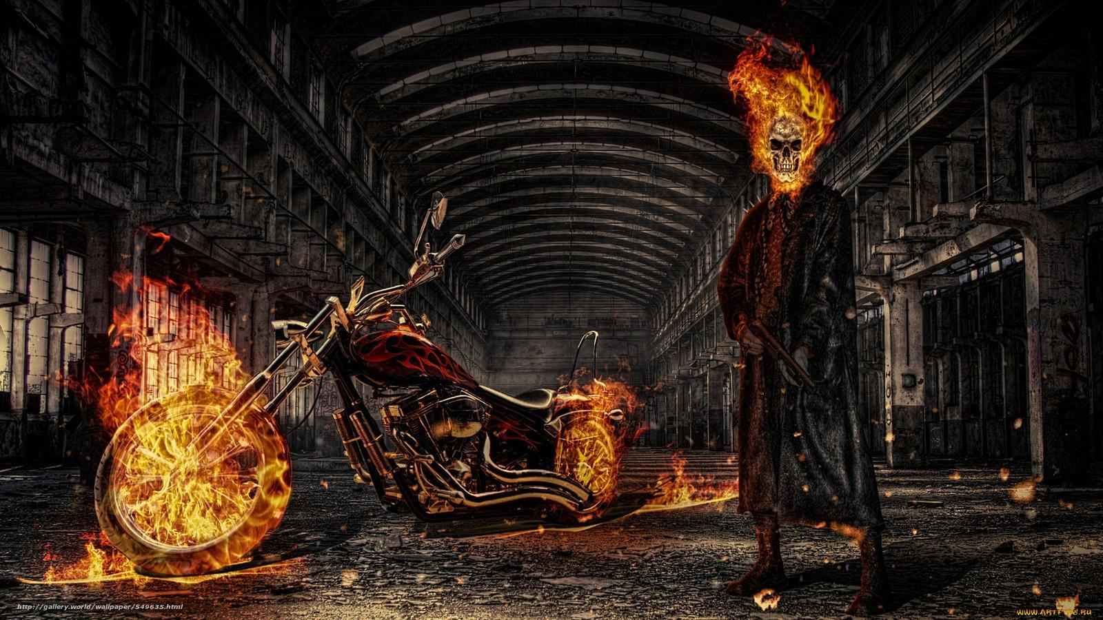 tlcharger fond d 39 ecran art ghost rider infernal fantomatique fonds d 39 ecran gratuits pour. Black Bedroom Furniture Sets. Home Design Ideas