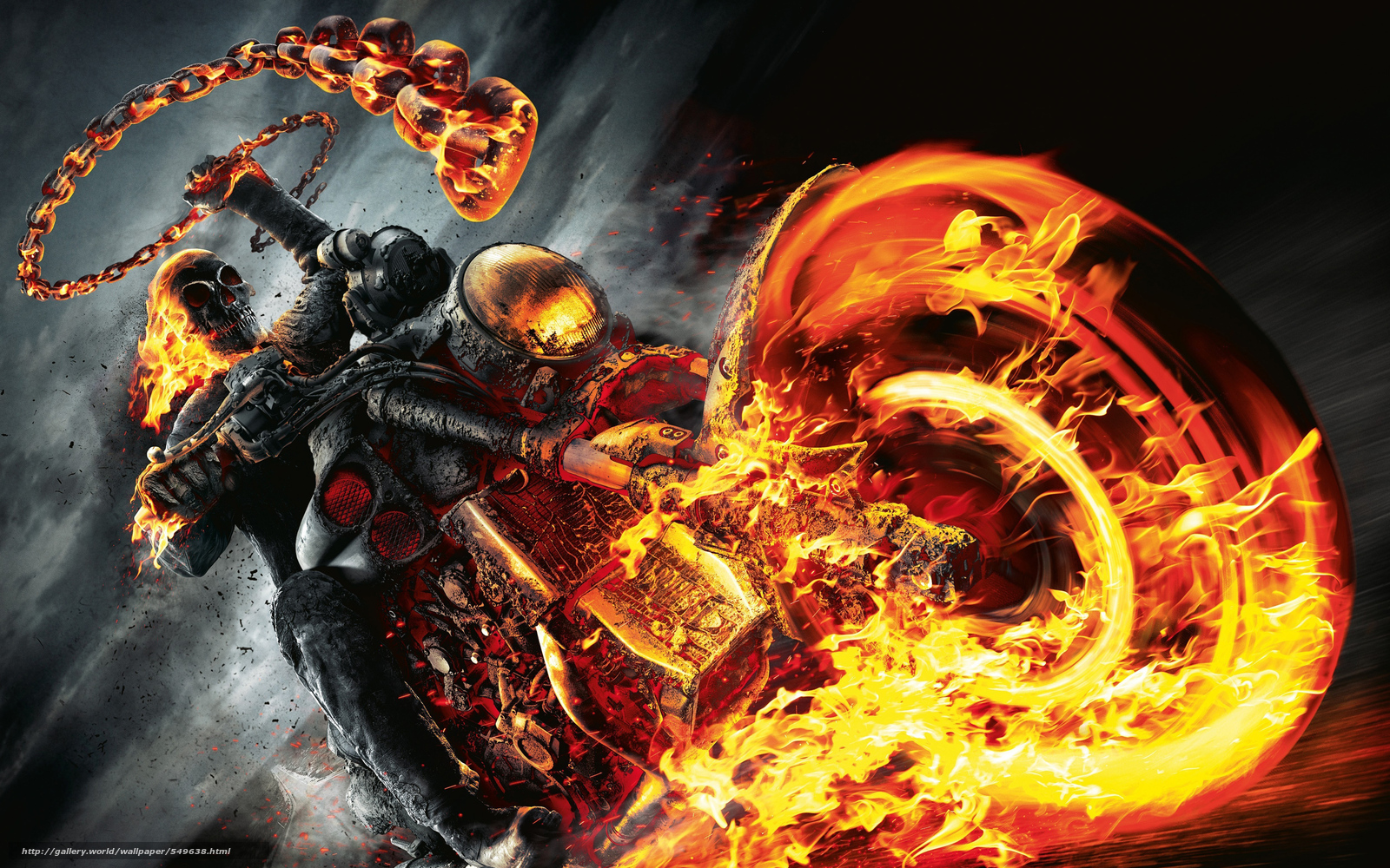 Download wallpaper art,  Ghost Rider,  infernal,  Ghostly free desktop wallpaper in the resolution 4000x2500 — picture №549638