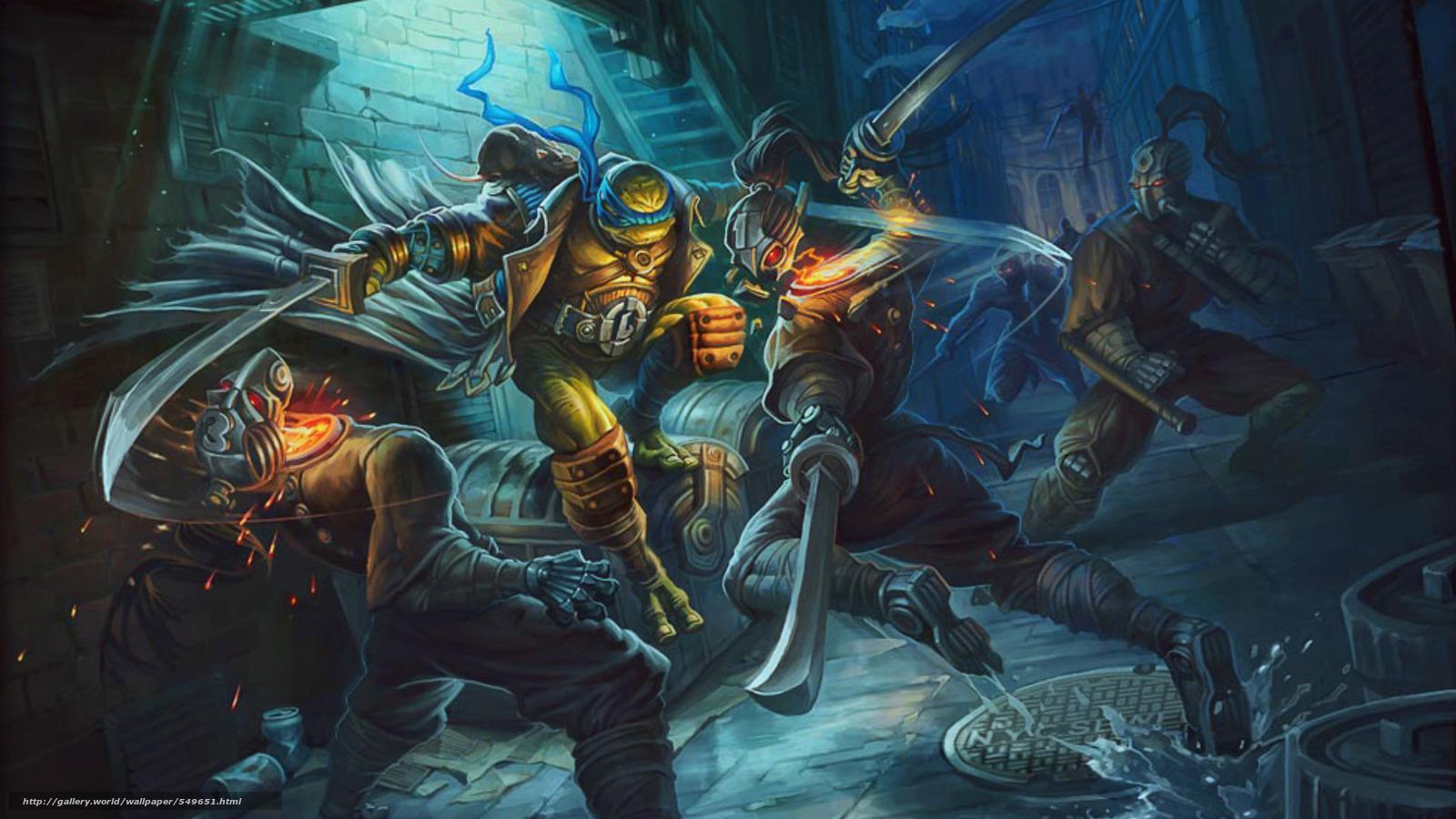 scaricare gli sfondi arte,  Tartarughe,  ninja,  Adolescenti Mutant Hero Turtles Sfondi gratis per la risoluzione del desktop 1920x1080 — immagine №549651