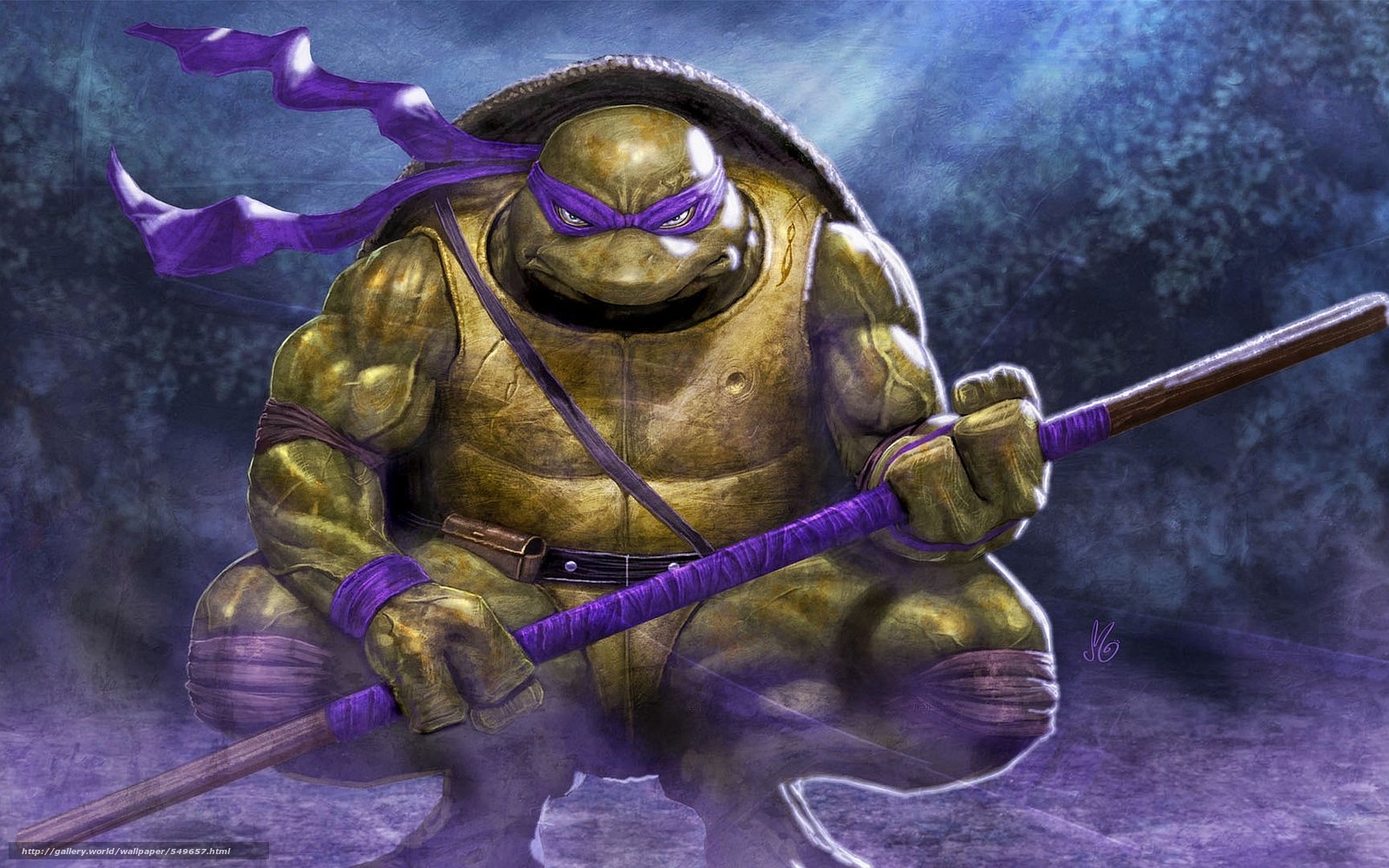 Tlcharger fond d 39 ecran donatello art tortues ninja - Tortues ninja donatello ...