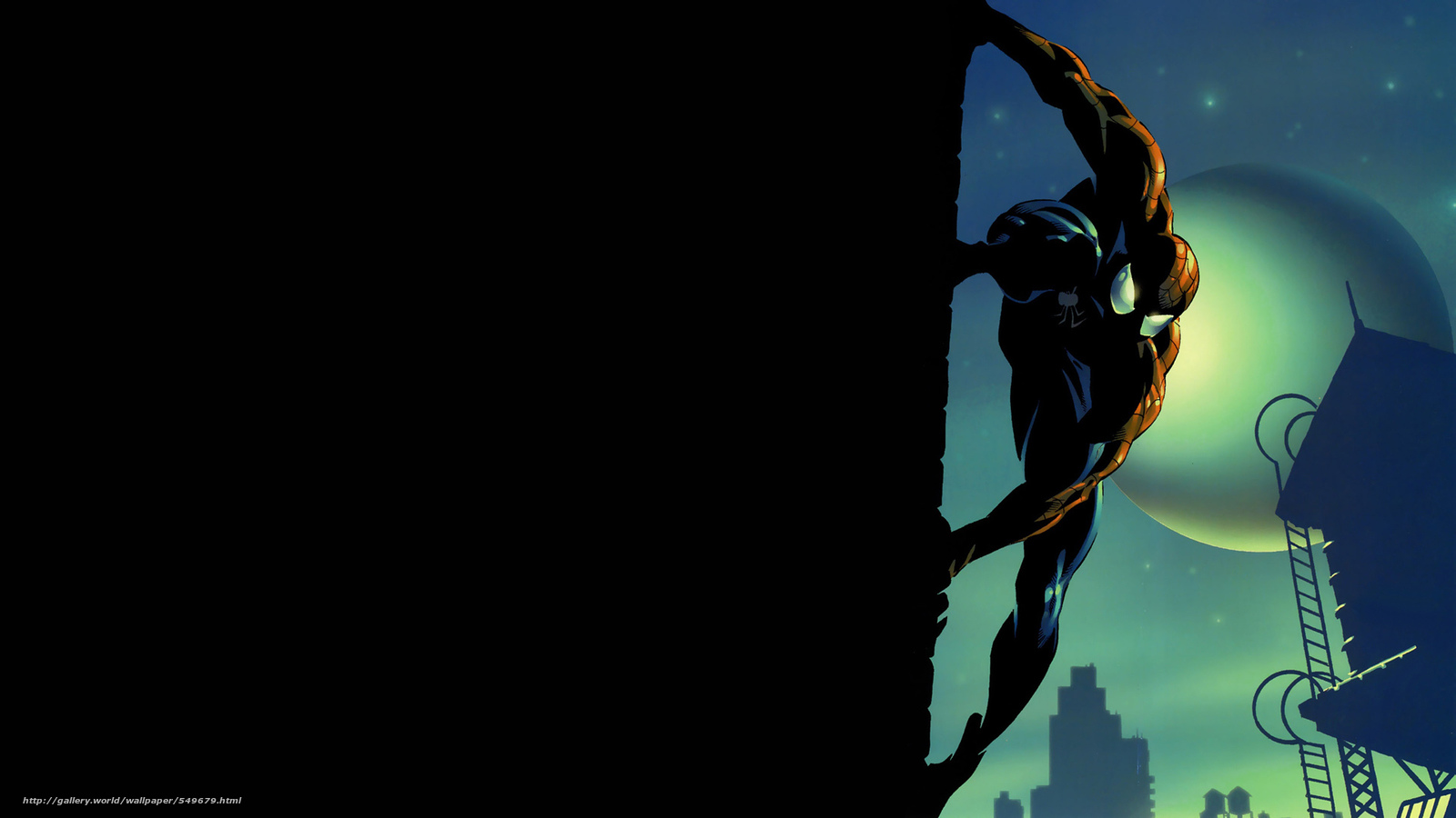 Download wallpaper Spider-Man,  comic strip,  cartoon,  art free desktop wallpaper in the resolution 1920x1080 — picture №549679
