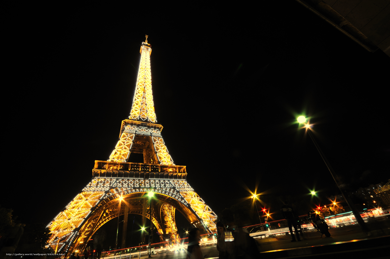 download wallpaper eiffel tower, paris, night free desktop wallpaper