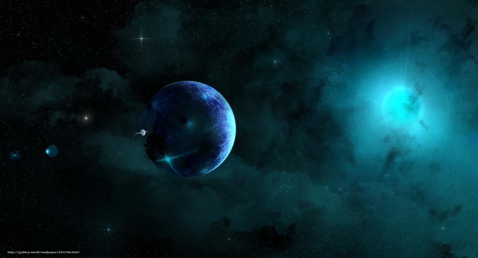 Скачать обои космос,  3d,  art бесплатно для рабочего стола в разрешении 2000x1080 — картинка №554798