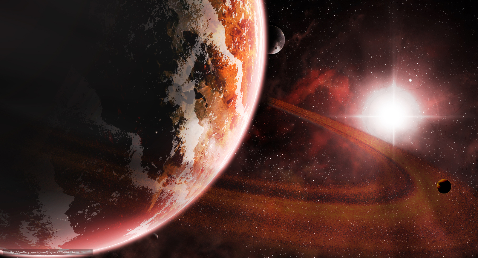 Скачать обои космос,  3d,  art бесплатно для рабочего стола в разрешении 2000x1080 — картинка №554801