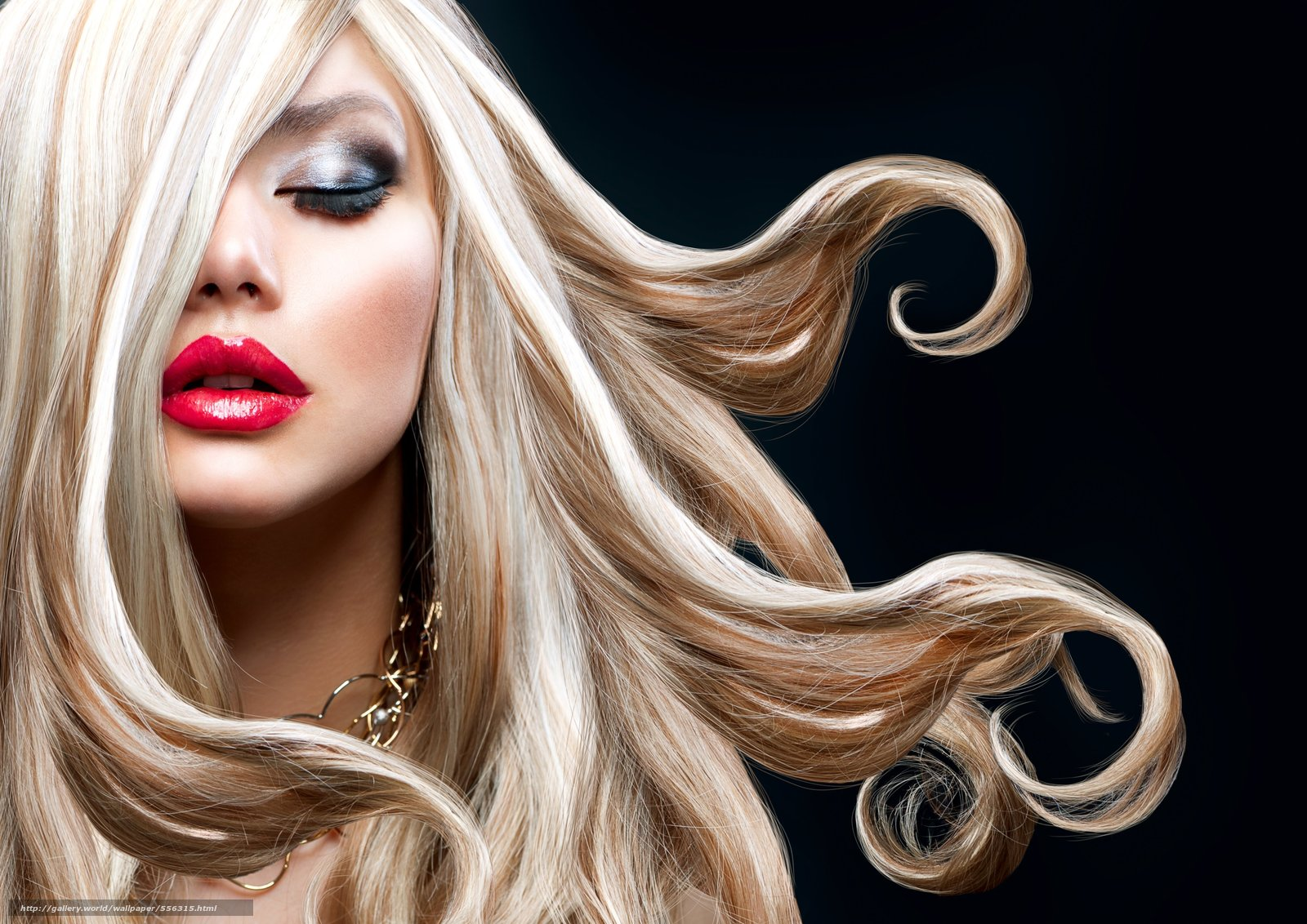 Скачать обои блондинка,  губы,  помада,  макияж бесплатно для рабочего стола в разрешении 4992x3532 — картинка №556315