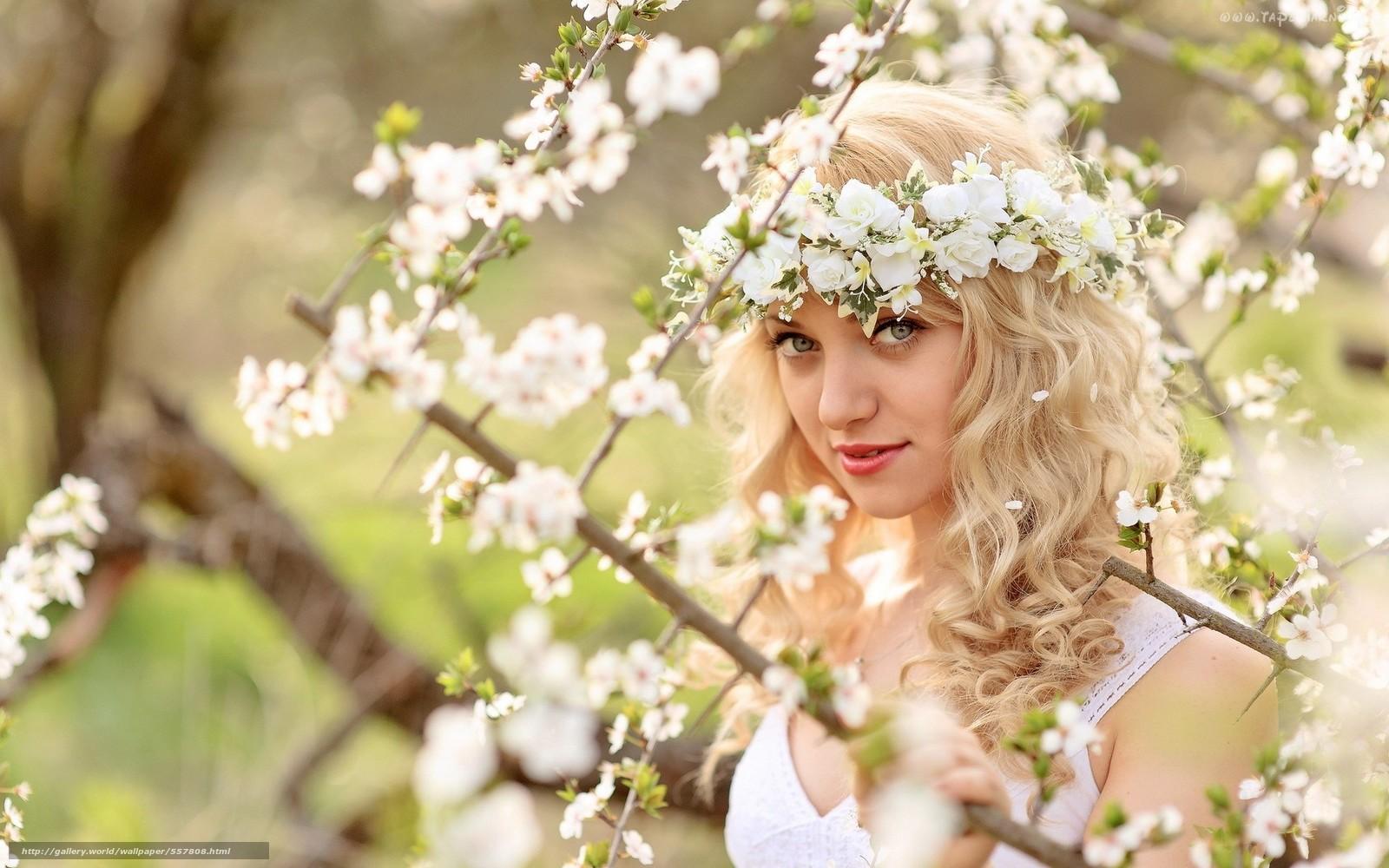 pobra tapety dziewczyna,  Kwiaty,  ogród Darmowe tapety na pulpit rozdzielczoci 1920x1200 — zdjcie №557808