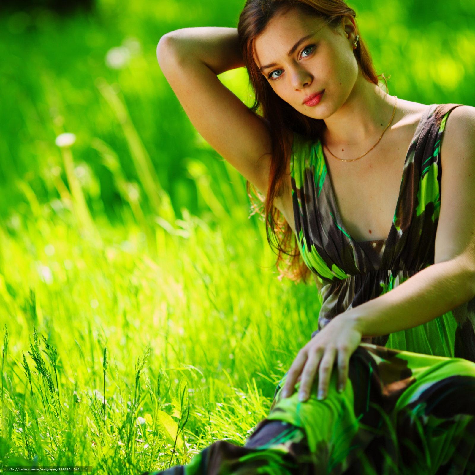 Скачать обои лето,  шатенка,  девушка,  зелень бесплатно для рабочего стола в разрешении 3639x3639 — картинка №557810