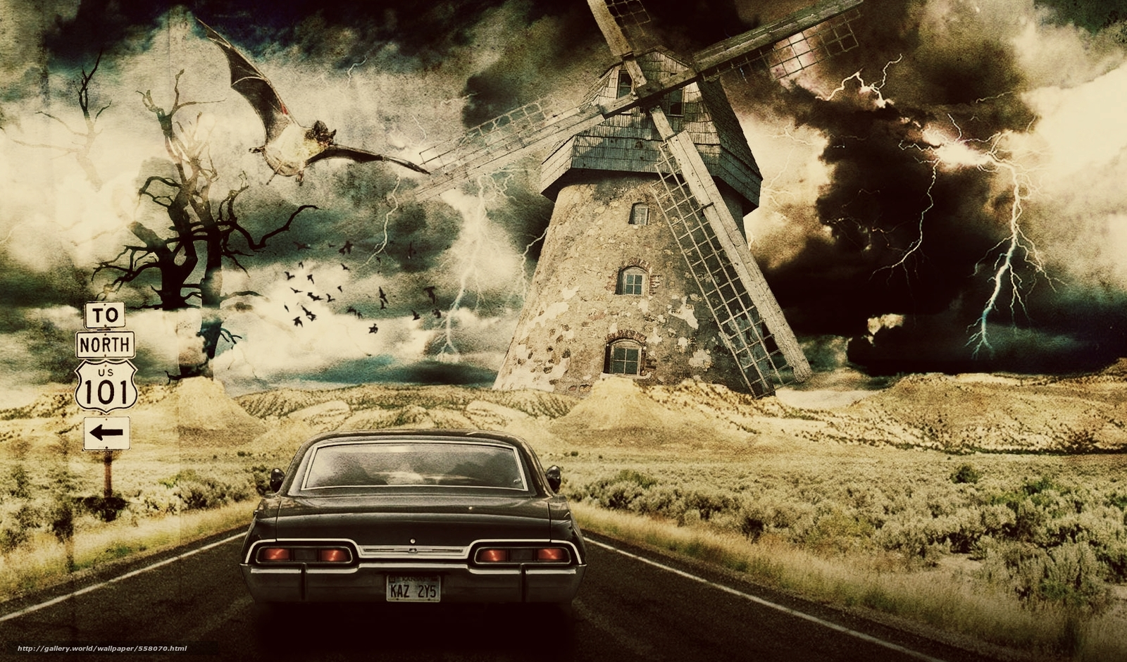 Download wallpaper Supernatural,  movie,  TV Shows free desktop wallpaper in the resolution 1680x987 — picture №558070