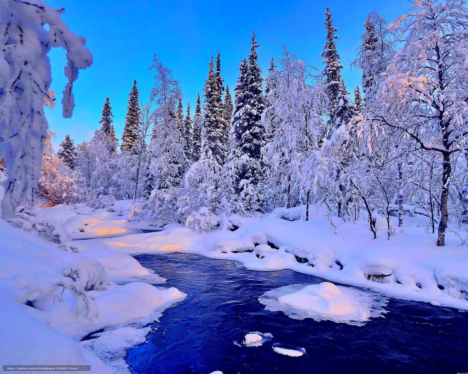 Download Hintergrund Winter Fluss Schnee Landschaft Freie