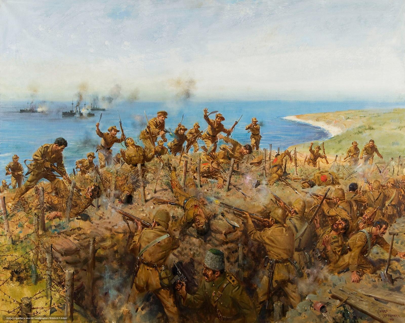 Download wallpaper The Battle for Sari Bair,  August 1915,  battle,  battle free desktop wallpaper in the resolution 4583x3656 — picture №558457