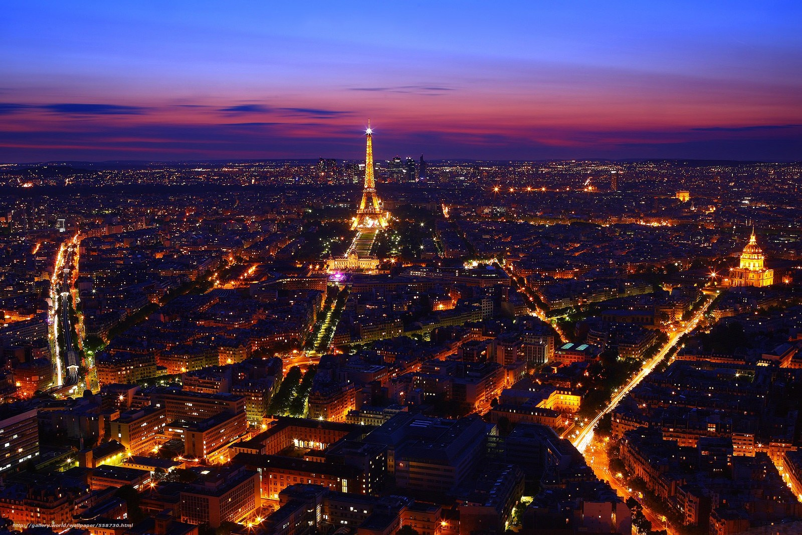 Download wallpaper Paris,  France,  night,  lights free desktop wallpaper in the resolution 1800x1200 — picture №558730