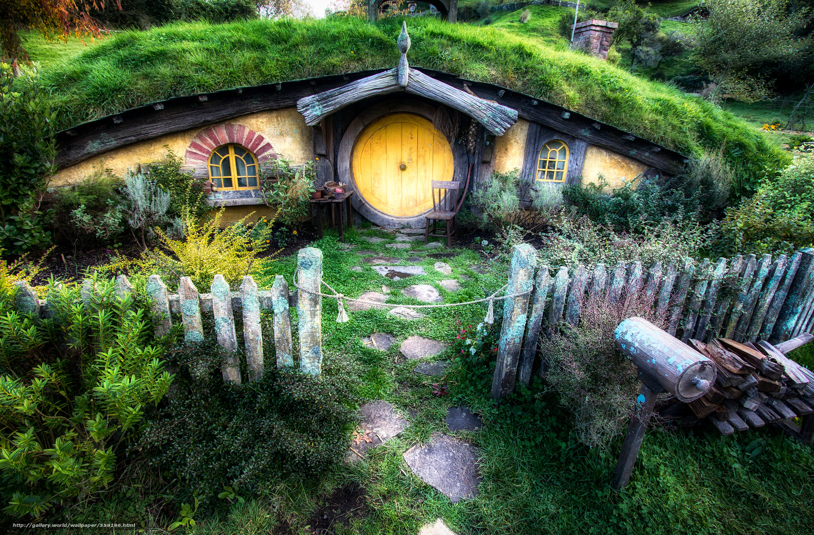 Tlcharger fond d 39 ecran le hobbit house le seigneur des for Hobbit house drawings