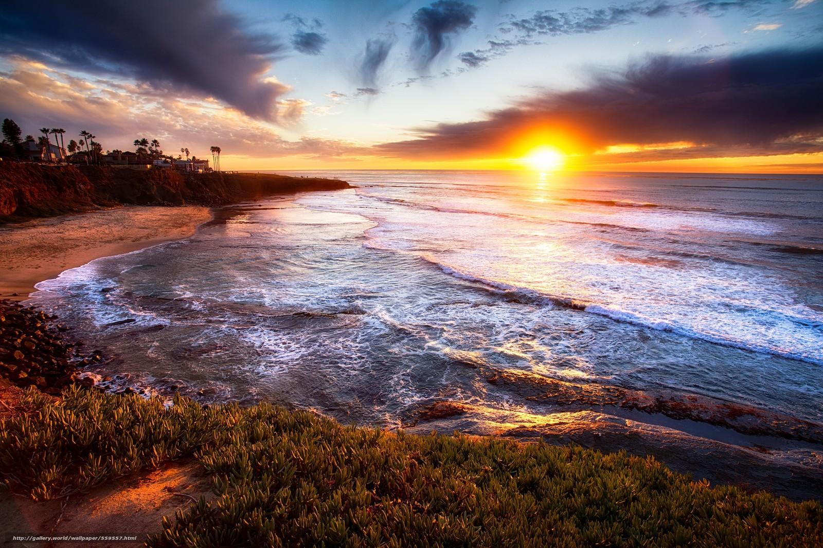 Download Wallpaper San Diego California Sunset Landscape Free Desktop Wallpaper In The ...