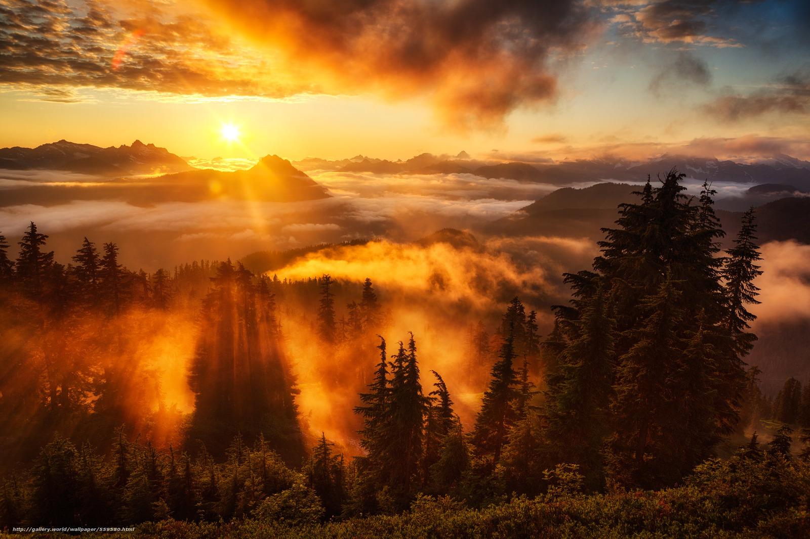 scaricare gli sfondi Lookout,  Washington,  Sunse Sfondi gratis per la risoluzione del desktop 2000x1333 — immagine №559580
