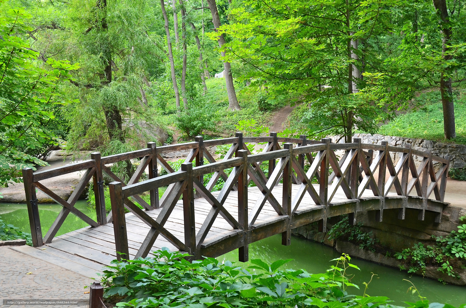 下载壁纸 老公园桥,  Sofievka,  乌曼,  乌克兰 免费为您的桌面分辨率的壁纸 3100x2053 — 图片 №560280